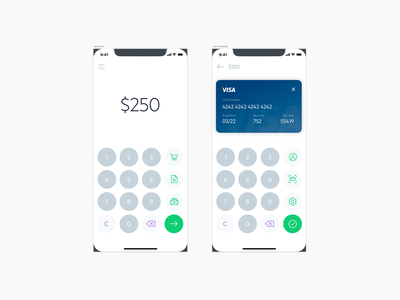 Payment Redesign keypad keyboard icons calculator payment ios