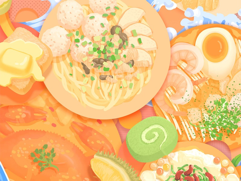 my food diary in singapore by ranyi huang dribbble