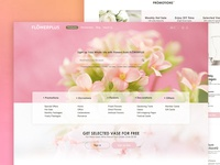 Flowerplus Homepage Redesign