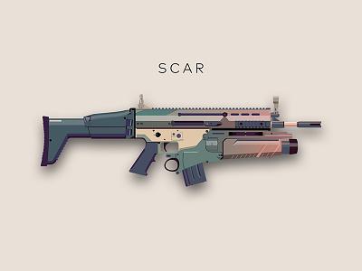 Scar airsoft gun weapon scar