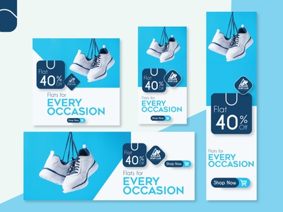 Stylish web banner shop web banner ad web banner banner ads graphic design