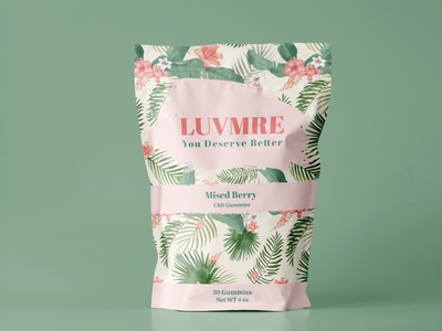 LUVMRE Pouch Packaging Design amazon shopify shop ecommerce product printing print print design pouch packaging vector branding illustration graphic design