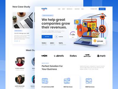 Professional Digital Marketing Agency Landing Page landing page digital marketing website ux ui daily ui design uiux ui design website homepage