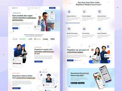 Linkjob - Job Search Platform 👌 find job job portal job job seeker job finder employee recruitment agency job search platform website uiux screen daily ui design ui design