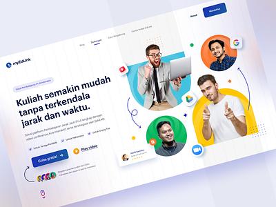 My Edlink Exploration - Hero Image design website educations e-learning platform elearning online learning ui homepage uiux screen daily ui design ui design