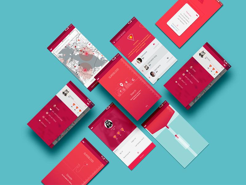 Blood Donation App mobile app design ui ux design design ui