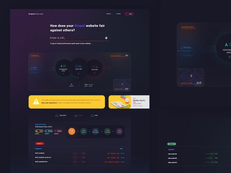 A Drupal dedicated website audit tool. design web animation ux design ux ui website design