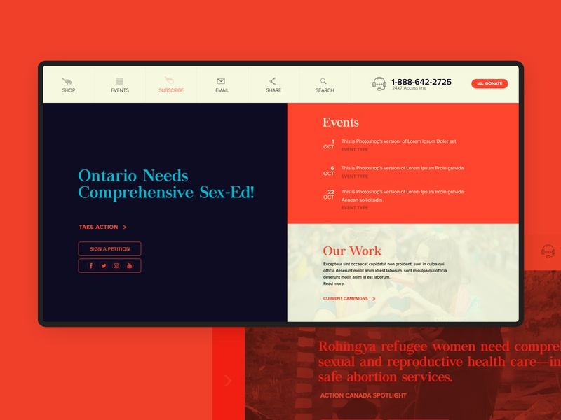 Homepage deisgn fold-2 typography design ux ui website design