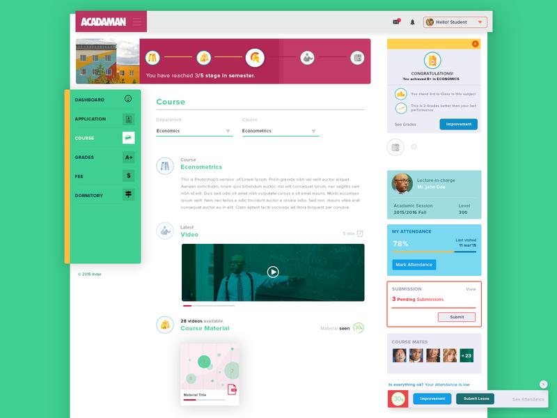 A University Management tool for an African Client flat web design website design ux design ux ui