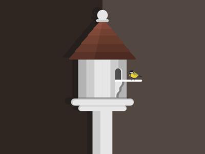 Inktober- Day 27- Birdhouse