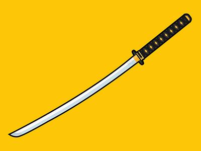 Bride's Sword hattori hanzo kill bill brides sword katana sword illustration illustrator adobe vector adobe illustrator design flat flat illustration weapon movie series