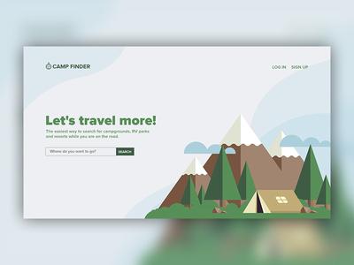 Camp Finder Landing Page