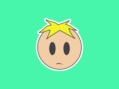Vectober Day 18 - Misfit south park misfit butters inktober2019 flat illustration flat inktober adobe illustrator design vector adobe illustrator illustration