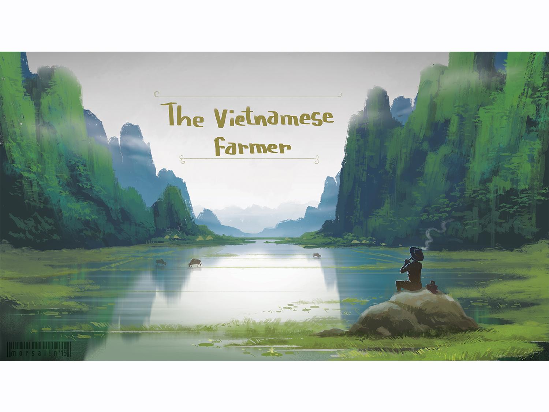 Vietnamese Farmer illustration