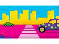 background illustration for Cineplex cars color BG