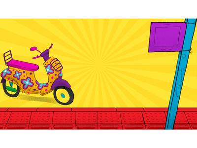 background illustration for Cineplex rides color BG