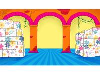 background illustration for Cineplex parcel color BG