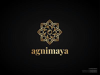 Agnimaya Jewelry | Logo illustrations gold brand designer brand identity brand design brand designer luxury luxury logo jewelry lettermark artwork logo design illustration logo vector logodaily graphic deisgn creative branding