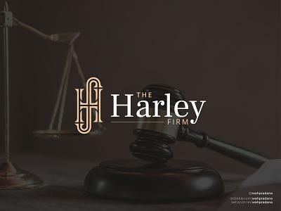 The Harley Law Firm | Logo & Visual Identity lettermark logos brand brand identity corporate identity corporate classic monogram lawlogo lawfirm law artwork logo design illustration logo vector logodaily graphic deisgn creative branding