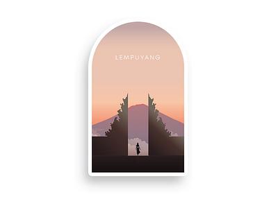 "Lempuyang "" Gate of heaven | Illustration badgedesign badge logo bali logo bagdelogo lempuyang bali icon graphic  design graphicdesign vector badge logo design logodaily logo illustration graphic deisgn graphc creative branding artwork"