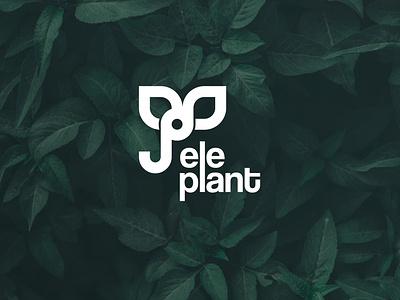 Eleplant Logo design badge lettermark graphic  design plant logo plant elephant elephant logo typography deigner vector logo design logodaily logo illustration graphic deisgn graphc creative branding artwork