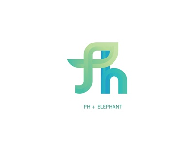 Elephant | Logo logo concept logodesign typogaphy blue logo logotype green logo gradient logo gradient elephant logo elephants lettermark icon illustration artwork vector logo logodaily graphic deisgn creative branding