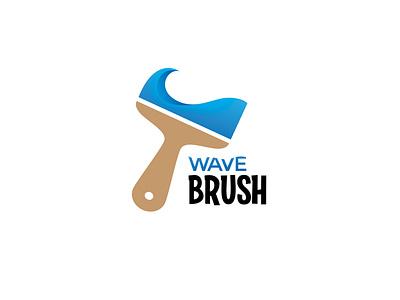 Wave Brush | Logo paint logo sea gradient blue creativity watercolor ocean water wave logo brush logo brush waves wave artwork vector logodaily logo graphic deisgn creative branding