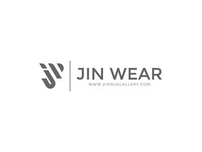 Jin Wear | Logo feminine minimalist fashion label label fashion design gray elegant minimalist logo fashion brand fashion artwork lettermark logo design illustration logo vector logodaily graphic deisgn creative branding