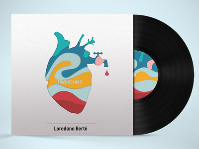 Traslocando concept conceptual cd album graphic design illustration love heart brand contest music vinyl