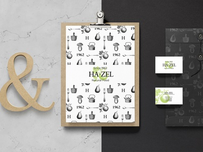 Hazel Branding Identity concept graphic design illustration vegetarian veggie food natural shop corporate identity logo design logo branding identity