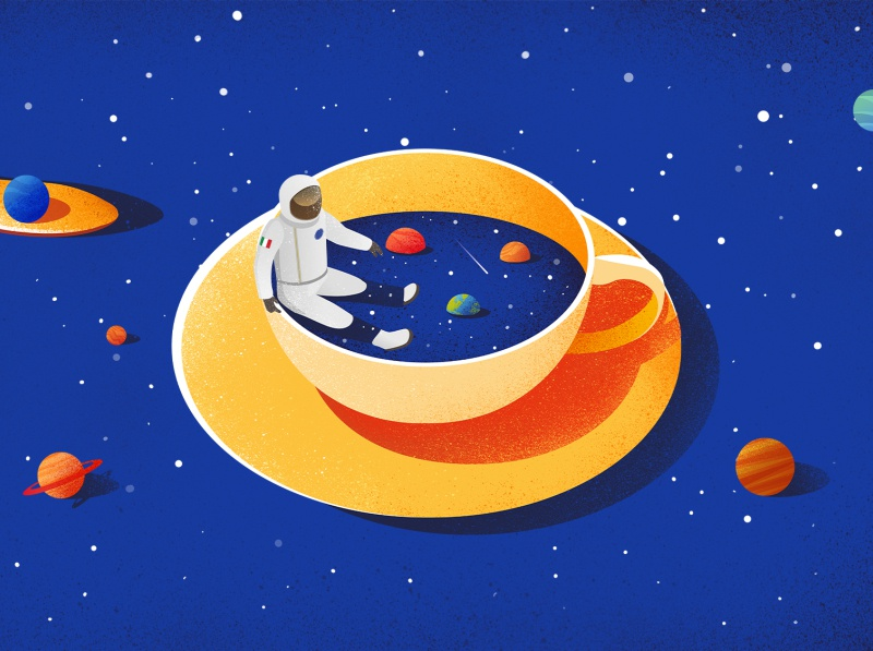 Eating Space food eat nasa space design graphic magazine concept editorial conceptual illustration picame