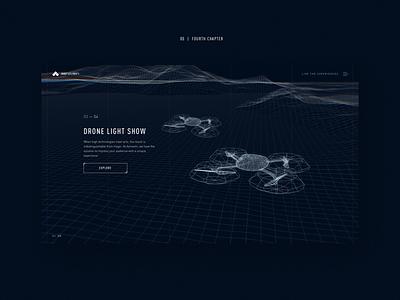UAVs website concept #5 web uav drone map website minimal