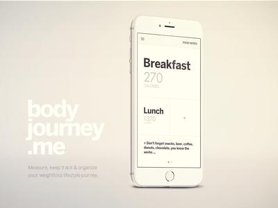Body Journey iPhone App