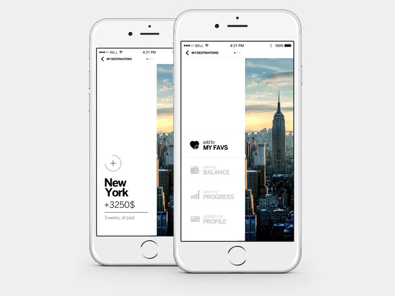 Favorite Travel App concept travel ios8 clean modern app design apple mobile ux ui designer iphone