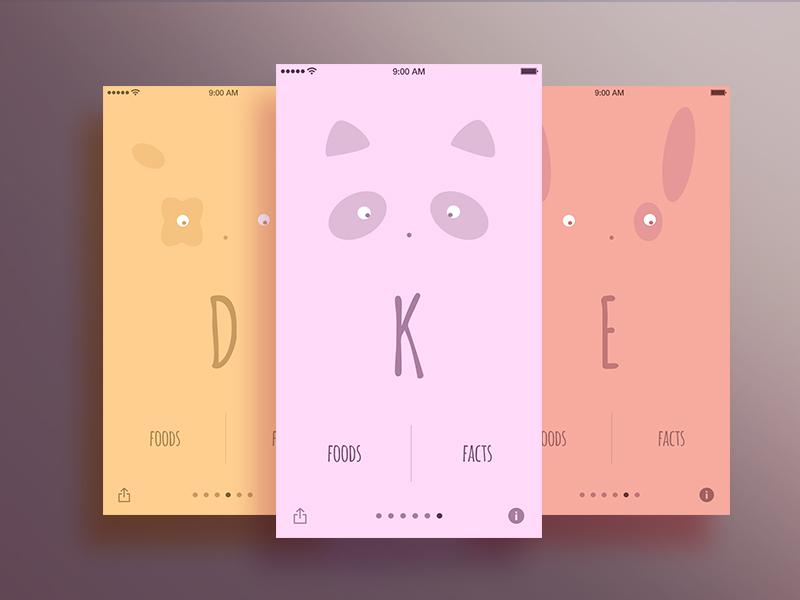 Cuddly Vitamins iphone app  mobile vitamines dog iphone6 creative cute character ux app simple ui design
