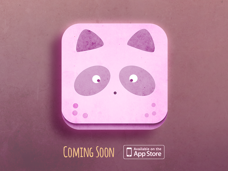 Cuddly Vitamins App icon app icon vitamins store ui mobile iphone raccoon design cute creative character app