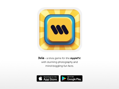 3via for Apple TV photography stunning cool multiplayer fun design iphone android ios apple tv game trivia