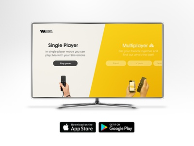 3via for Apple TV homescreen design trivia game apple tv ios android iphone design fun multiplayer cool stunning photography