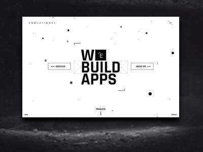 Enovational website design apps app design branding typography light dark cool futuristic modern mobile
