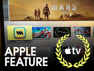 3via Apple TV App got Featured photography trivia iphone ios designer app store game apple feature featured by apple apple tv