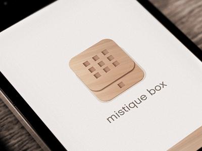 Mistique Box app design app iphone design ui graphic taptapdesign web design graphic design studio app store box wooden pattern amazing cool ux modern clean store