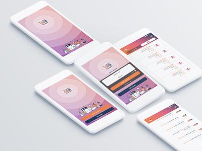 Tawgeh App ios android mobile app design mobile app mobile ui ui design uiux ui apps design apps
