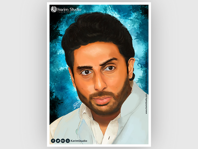 Abhishek Bachchan   Digital Painting drawing graphic tablet painting digital oil pastel digital painting abhishek bachchan