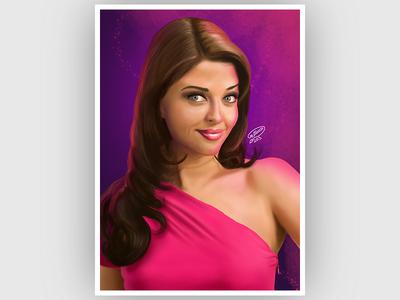 Aishwarya Rai Portrait | Digital Painting