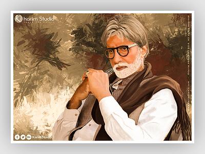 Amitabh Bachchan | Digital Painting drawing graphic tablet painting digital oil pastel digital painting amitabh bachchan