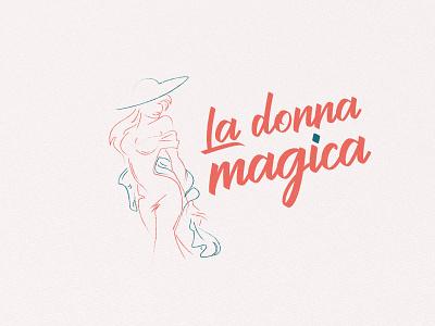 La Donna Magica Spa & Store logo flat branding illustration icon drawing design logo