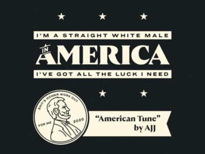 American Tune typography illustration america activism racism blm black lives matter