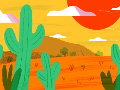 Conference Backgrounds Desert conference zoom background nature art procreate design drawing illustration