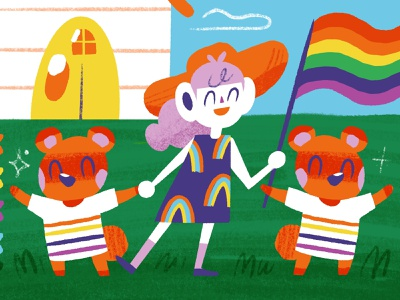Supermaker Header Pride animalcrossing animal design editorial procreate character drawing illustration