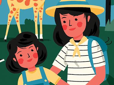 Ajudaris family zoo drawing illustration probono ajudaris